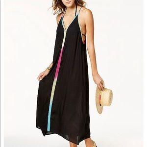 Multi-Colored Trim Maxi Dress Cover-Up